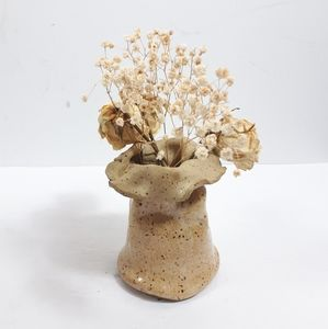 Studio Pottery Bag Shape Vase Decor